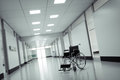 Wheelchair in a hospital high quality render Royalty Free Stock Photos