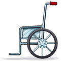 A wheelchair illustration of on white background Royalty Free Stock Photo
