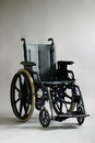 Wheelchair over grey background Stock Image