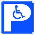 Wheelchair parking Royalty Free Stock Image