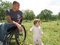 Wheelchair Picnic 2 Royalty Free Stock Photo