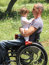 Wheelchair Picnic 3 Royalty Free Stock Images