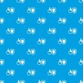 Wheelchair and safety shield pattern seamless blue