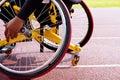 Wheelchair sportsmen Royalty Free Stock Photo
