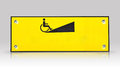 Wheelchair way sign isolated with refection the Stock Photos