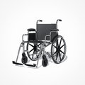 Wheelchair on white background Royalty Free Stock Images