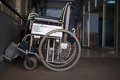 Wheelchairs in a hospital parked Royalty Free Stock Photo
