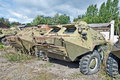 Wheeled armored vehicles troop carrier btr pb army ukraine Royalty Free Stock Photos