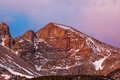 Wheeler peak morning alpenglow on snake mountains great basin national park nevada Royalty Free Stock Images