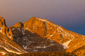Wheeler peak morning light on snake mountains great basin national park nevada Stock Image