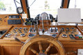 Wheelhouse (flying bridge, Bridge of a ship) Royalty Free Stock Photo