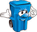 Wheelie bin funny on white background Stock Images