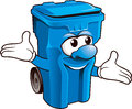 Wheelie bin funny on white background Royalty Free Stock Photos