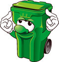 Wheelie bin funny on white background Royalty Free Stock Image