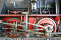 Wheels and mechanical steam locomotive detail of the Royalty Free Stock Photo