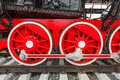 The wheels of the old steam train Royalty Free Stock Photo