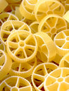 Wheels shaped pasta Royalty Free Stock Photography