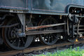 Wheels of steam locomotive detail Stock Images