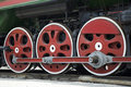 Wheels of train Stock Photos
