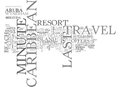Where To Find Last Minute Caribbean Travel Deals Word Cloud Royalty Free Stock Photo