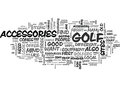 Where You Can Buy Useful Golf Accessories Word Cloud Royalty Free Stock Photo