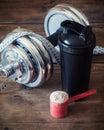 Whey protein powder Royalty Free Stock Photo