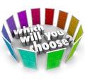 Který vůle vy vybrat mnoho dveře cesty příležitosti