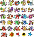 Whimsical Alphabet Monograms Royalty Free Stock Photo