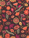 Whimsical floral seamless pattern Royalty Free Stock Images