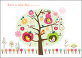 Whimsical fruit tree Royalty Free Stock Photo