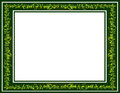 Whimsical green scribble picture frame border Stock Image