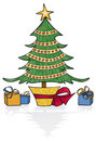 Whimsical Holiday Tree Stock Photo