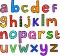 Whimsical Lowercase Alphabet Royalty Free Stock Photo