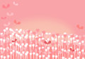 Whimsical Pink Background Royalty Free Stock Photos