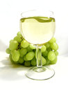 Whineglass with white wine food background isolation over Royalty Free Stock Image