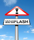 Whiplash concept illustration depicting a sign with a Stock Photos