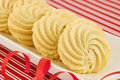 Whipped shortbread pinwheels Royalty Free Stock Photo