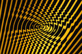 Whirl Pool of Spiralling Danger (Black and Yellow) Royalty Free Stock Photo
