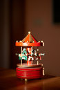 Whirligig carousel horsies on the table Stock Images