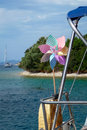 Whirligig on a yacht sailing Stock Images