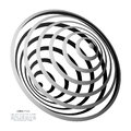 Whirlpool, black hole, radial lines with rotating distortion. Abstract spiral, vortex shape, element