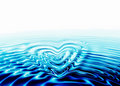 Whirlpool forming a heart Royalty Free Stock Images
