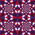 Whirly geometric seamless pattern. Royalty Free Stock Images