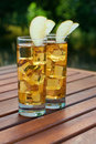 Whiskey with apple juice Royalty Free Stock Image