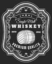 Whiskey barrel label Royalty Free Stock Photo