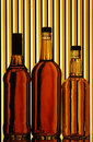 Whiskey bottles Stock Photo
