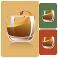 Whiskey glass Stock Image