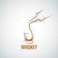 Whiskey glass bottle shot splash background eps Royalty Free Stock Photography