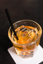 Whiskey on the rock with tube Royalty Free Stock Photo