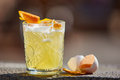Whiskey sour in the sunlight. Royalty Free Stock Photo